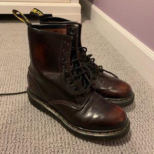 Maroon Dr. Marten's Boots